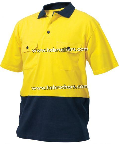 Cotton Spliced Polo Shirt (Short-sleeve)