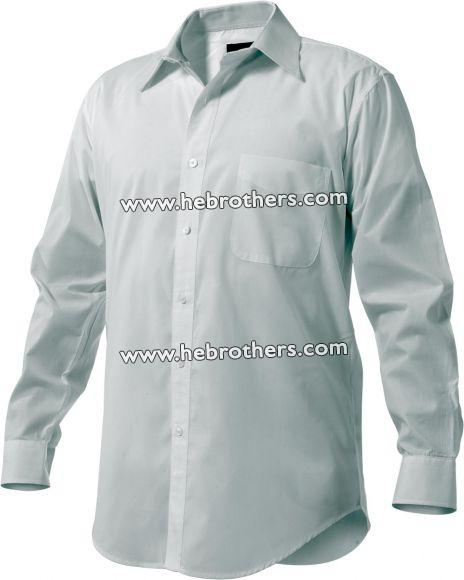 Men Cotton-rich Wrinkle-free End-on-end Shirt (Long-sleeve)