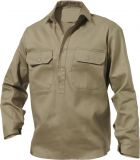 Closed Front Drill Shirt (Long-sleeve)